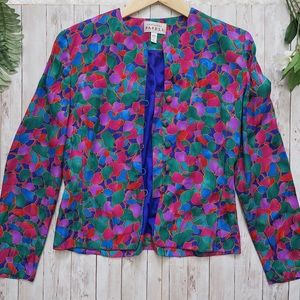 Vintage Adrianna Papell 100% Silk Blazer